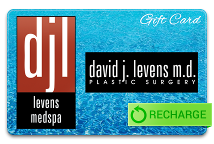 Recharge your David Levens Plastic Surgery Card
